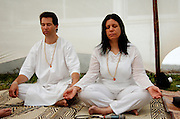 A meditating couple