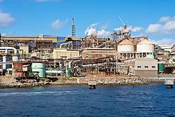 The zinc factory on the Derwent River in Hobart, Tasmania