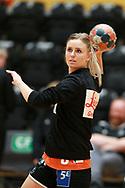 Freja Cohrt fra Odense Håndbold før semifinalen i HTH Dameligaen mellem Herning-Ikast Håndbold i IBF Arena, Ikast, Danmark, den 01.05.2019. Photo Credit: Allan Jensen/EVENTMEDIA.
