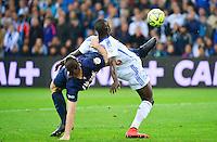 Zlatan IBRAHIMOVIC / Rod FANNI - 05.04.2015 - Marseille / Paris Saint Germain - 31eme journee de Ligue 1<br />Photo : Dave Winter / Icon Sport