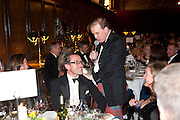 WILL RAMSAY; LORD HARRY DALMENY, Charity Dinner in aid of Caring for Courage The Royal Scots Dragoon Guards Afganistan Welfare Appeal. In the presence of the Duke of Kent. The Royal Hospital, Chaelsea. London. 20 October 2011. <br /> <br />  , -DO NOT ARCHIVE-© Copyright Photograph by Dafydd Jones. 248 Clapham Rd. London SW9 0PZ. Tel 0207 820 0771. www.dafjones.com.