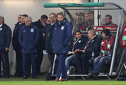 Interim England Manager Gareth Southgate looks on as his side draw 0-0 with Slovenia - Mandatory by-line: Robbie Stephenson/JMP - 11/10/2016 - FOOTBALL - RSC Stozice - Ljubljana, England - Slovenia v England - World Cup European Qualifier