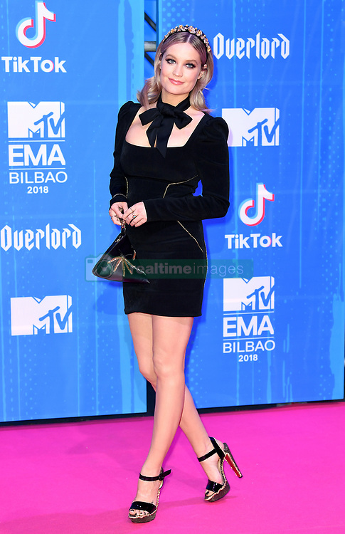 Laura Whitmore attending the MTV Europe Music Awards 2018 held at the Bilbao Exhibition Centre, Spain