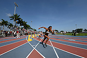 Jun 23, 2019; Miramar, FL, USA; General overall view of Dominique Mustin at the start of the women's 800m during the USATF U20 Championships at Ansin Sports Complex.