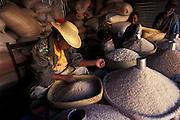 MADAGASCAR: Rice shop, Fianarantsua, central highlands