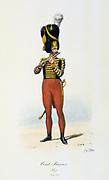 Fife player from the Swiss Company of the King's guard, 1814-1817.   'Histoire de la maison militaire du Roi de 1814 a 1830' by Eugene Titeux, Paris, 1890.