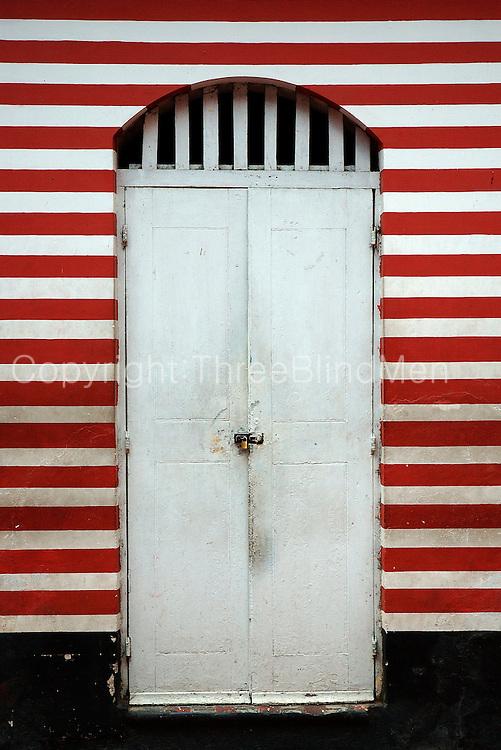 Door at Mosque in Pettah, Colombo.<br /> Mosque in 2nd Cross Street, Pettah, Colombo.