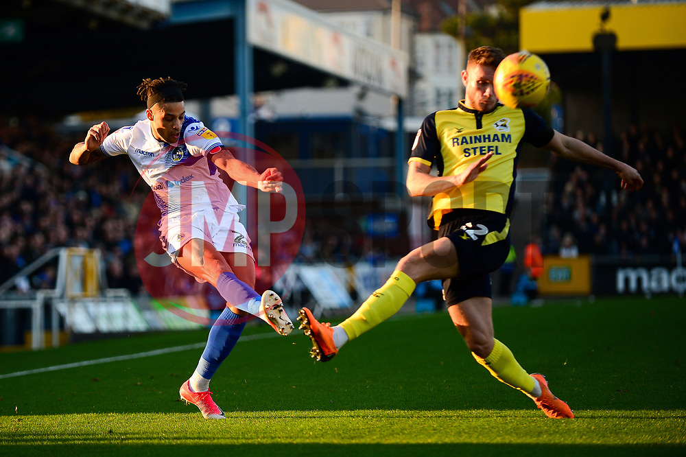 Daniel Leadbitter of Bristol Rovers crosses the ball  - Mandatory by-line: Dougie Allward/JMP - 17/11/2018 - FOOTBALL - Memorial Stadium - Bristol, England - Bristol Rovers v Scunthorpe United - Sky Bet League One
