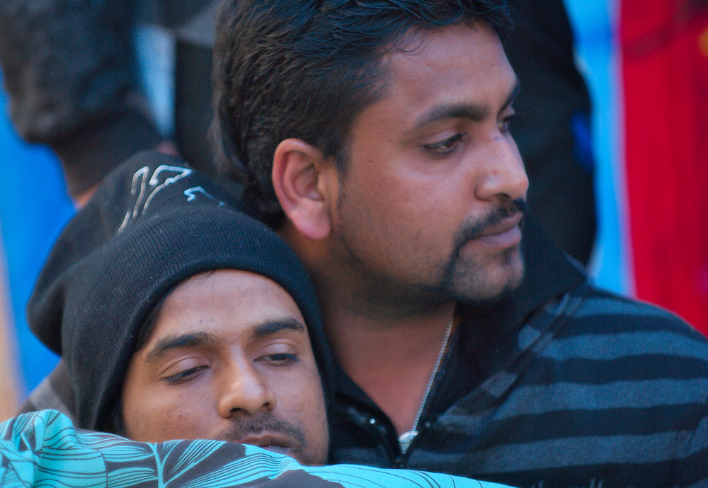 London April 12th Friends  ,Supporters and paramedics assist a very weak Perameshwaran Subramaniam that is on hist fifth day of hunger strike during the protest in parliament square...***Standard Licence  Fee's Apply To All Image Use***.Marco Secchi /Xianpix. tel +44 (0) 845 050 6211. e-mail ms@msecchi.com or sales@xianpix.com.www.marcosecchi.com