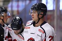 2019-10-23 | Ljungby, Sweden: Hanhals (20) Gustav Jäderberg during the game between IF Troja / Ljungby and Hanhals IF at Ljungby Arena ( Photo by: Fredrik Sten | Swe Press Photo )<br /> <br /> Keywords: Ljungby, Icehockey, HockeyEttan, Ljungby Arena, IF Troja / Ljungby, Hanhals IF, fsth191023, ATG HockeyEttan