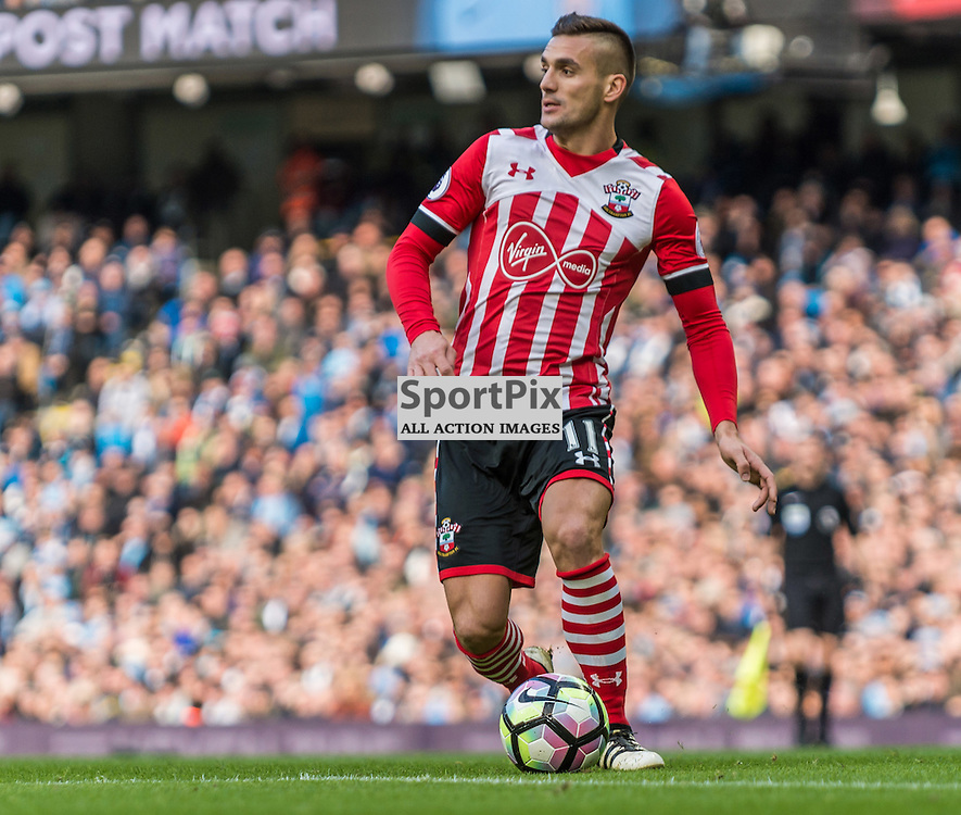 Southampton midfielder Dusan Tadic (11) on the ball in the Premier League match between Manchester City and Southampton<br /> <br /> (c) John Baguley | SportPix.org.uk