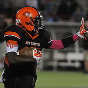 New Hanover High School's Rachone Johnson rushes against Ashley High School Friday October 10, 2014 at Legion Stadium in Wilmington, N.C. (Jason A. Frizzelle)
