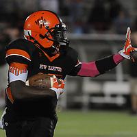 New Hanover High School's Rachone Johnson rushes against Ashley High School Friday October 10, 2014 at Legion Stadium in Wilmington, N.C. (Jason A. Frizzelle)