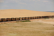 Coal train; southwest of Miles City; Montana