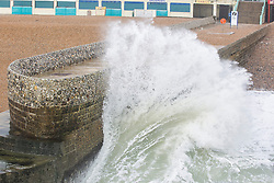 Brighton, UK. 21/11/2016, Powerful waves are hitting the pontoon next to the Brighton Palace Pier in the aftermath of storm Angus. Photo Credit: Hugo Michiels