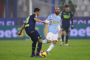Foto LaPresse/Filippo Rubin<br /> 26/12/2018 Ferrara (Italia)<br /> Sport Calcio<br /> Spal - Udinese - Campionato di calcio Serie A 2018/2019 - Stadio &quot;Paolo Mazza&quot;<br /> Nella foto: HIDDE TER AVEST (UDINESE) VS PASQUALE SCHIATTARELLA (SPAL)<br /> <br /> Photo LaPresse/Filippo Rubin<br /> December 26, 2018 Ferrara (Italy)<br /> Sport Soccer<br /> Spal vs Udinese - Italian Football Championship League A 2018/2019 - &quot;Paolo Mazza&quot; Stadium <br /> In the pic: HIDDE TER AVEST (UDINESE) VS PASQUALE SCHIATTARELLA (SPAL)