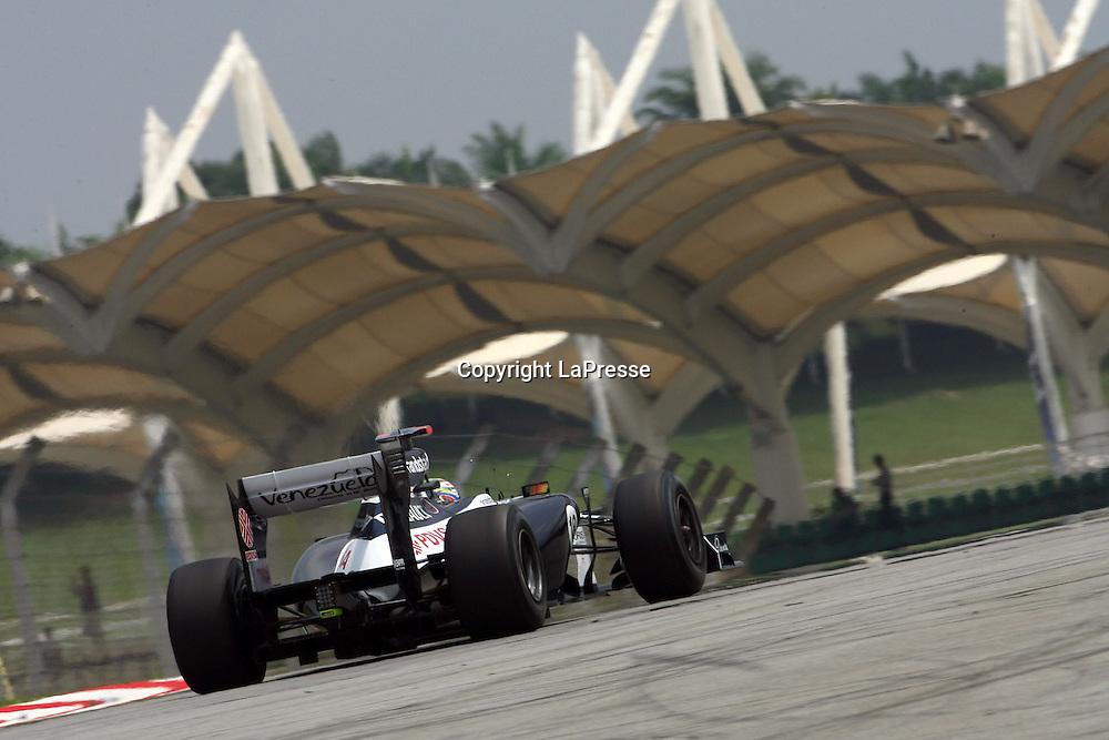 &copy; Photo4 / LaPresse<br /> 23/3/2012 Sepang<br /> Malaysian Grand Prix, Sepang 2012<br /> In the pic: Pastor Maldonaldo (VEN) Williams F1 Team FW34