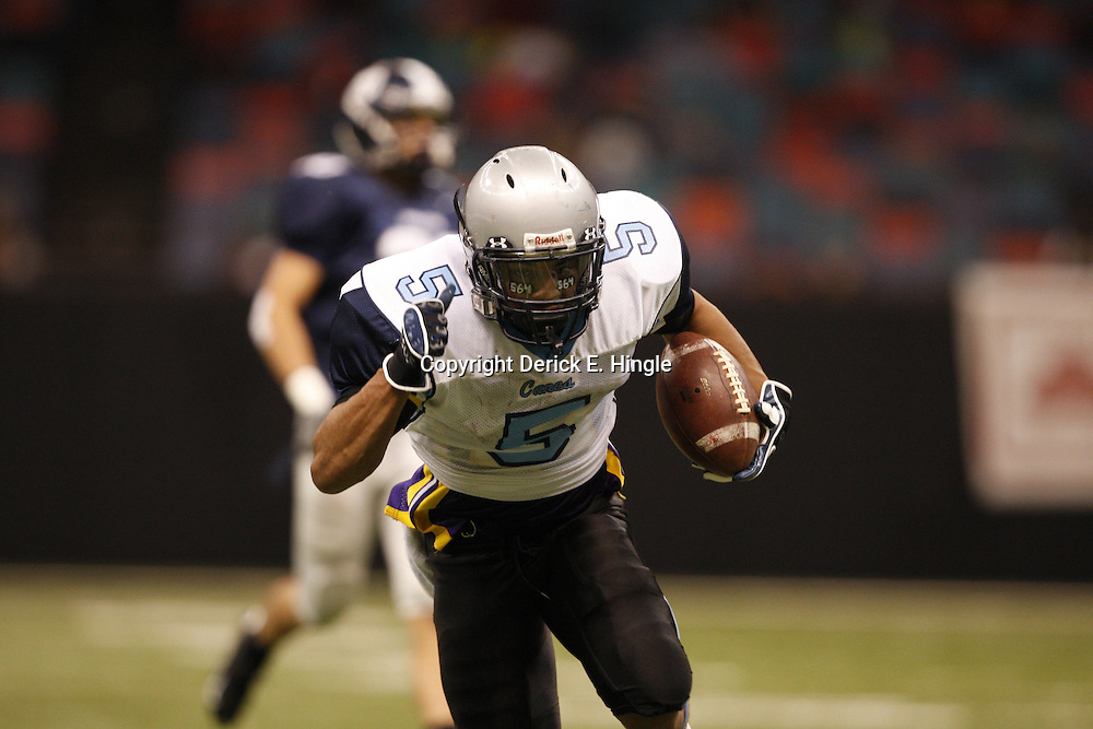 2008 December 12: During the Class 1A LHSAA State Championship game, between the South Plaquemines Hurricanes and Christian Life Academy at the Louisiana Superdome in New Orleans, LA (photo by Derick Hingle/Nola.com)