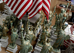 Small models of The Statue of Liberty are sold on Liberty Island 2 days before Independence Day and the 4th of July in New York City, NY, USA on July 2, 2018. Photo by Dennis Van Tine/ABACAPRESS.COM