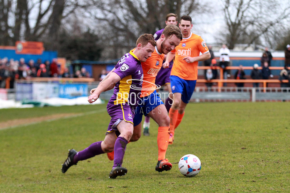 Jack Barthram on a run during the Vanarama National League match between Braintree Town and Cheltenham Town at the Amlin Stadium, Braintree, United Kingdom on 19 March 2016. Photo by Carl Hewlett