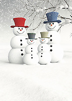 Christmas can be a wonderful time of year. It can also be a little on the stressful side. To that end, you are going to be thrilled to invite this friendly family of snowmen and snowwomen into your home. This charming scene depicts a number of snow people on a gorgeous winter day. It is easy to look at something like this, and remember the snow people you made during your own childhood. To look closely at this fine art holiday example, you will marvel at the incredible assortment of details. This is an ideal gift for anyone who carries the spirit of Christmas in their hearts.