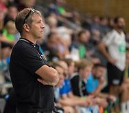 HÅNDBOLD: Cheftræner Christian Dalmose (TMS Ringsted) under træningskampen mellem Nordsjælland Håndbold og TMS Ringsted den 5. august 2017 i Frederiksborg Centret. Foto: Claus Birch