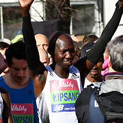 Wilson Kipsang at the race start men and women at The Vitality Big Half 2019 on 10 March 2019, London, UK.