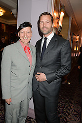 Left to right, STEPHEN JONES and PATRICK GRANT at the WGSN Global Fashion Awards 2015 held at The Park Lane Hotel, Piccadilly, London on 14th May 2015.