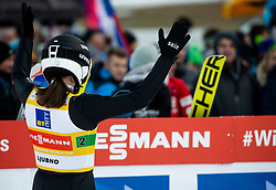 Anna Rupprecht of Germany reacts during Team Competition at Day 2 of World Cup Ski Jumping Ladies Ljubno 2019, on February 9, 2019 in Ljubno ob Savinji, Slovenia. Photo by Matic Ritonja / Sportida