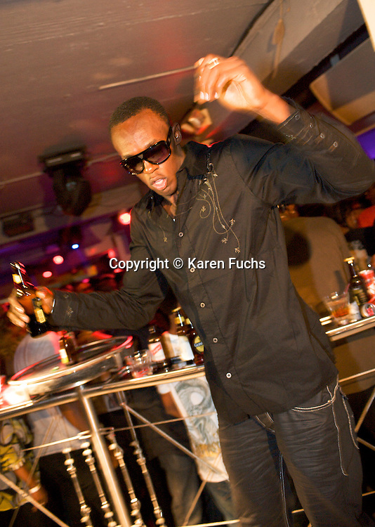 Usain Bolt at his own party at the Quad Club in Kingston, Jamaica April'09