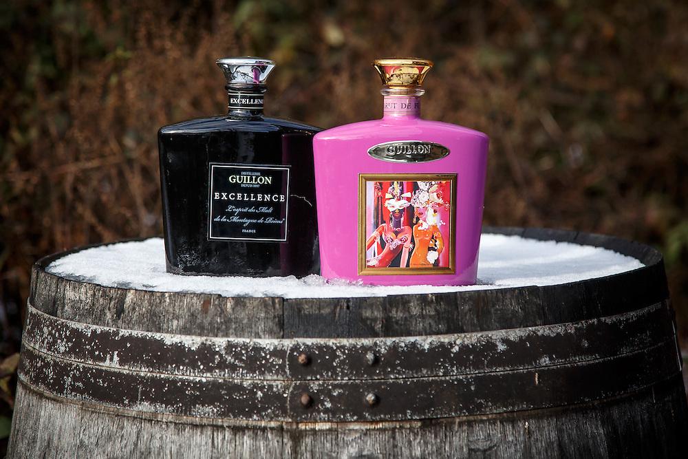 Bottles at Distillerie Guillon in Louvois, France, January 24, 2015. Gary He/DRAMBOX MEDIA LIBRARY