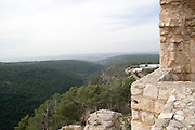 Israel, Upper Galilee, The Montfort (German: Starkenberg) a ruined crusader fortress The site is now a national park inside the nature reserve of Keziv stream,