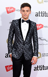 EDITORIAL USE ONLY<br /> Tom Daley attends the Virgin Holidays Attitude Awards at the Roundhouse, London.