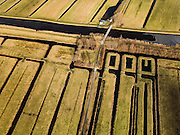 Nederland, Zuid-Holland, Gemeente Reeuwijk, 20-02-2012;.Enkele Wiericke met in de Polder Oukoop proefveld voor nieuwe natuur .Polder and test field for new nature.luchtfoto (toeslag), aerial photo (additional fee required);.copyright foto/photo Siebe Swart.
