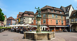 Street scene in the old town in Colmar, Alsace, France<br /> <br /> (c) Andrew Wilson | Edinburgh Elite media