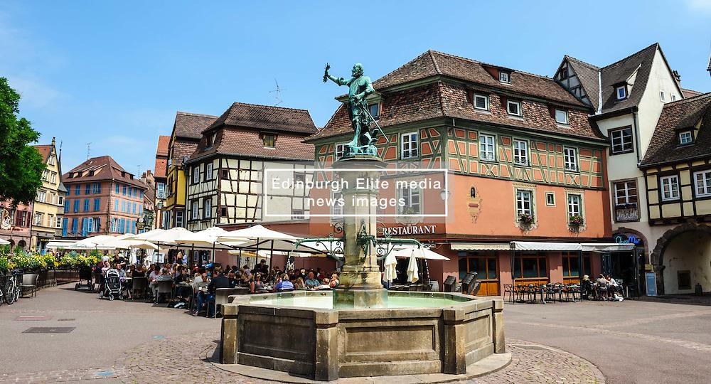 Street scene in the old town in Colmar, Alsace, France<br /> <br /> (c) Andrew Wilson | Edinburgh Elite media