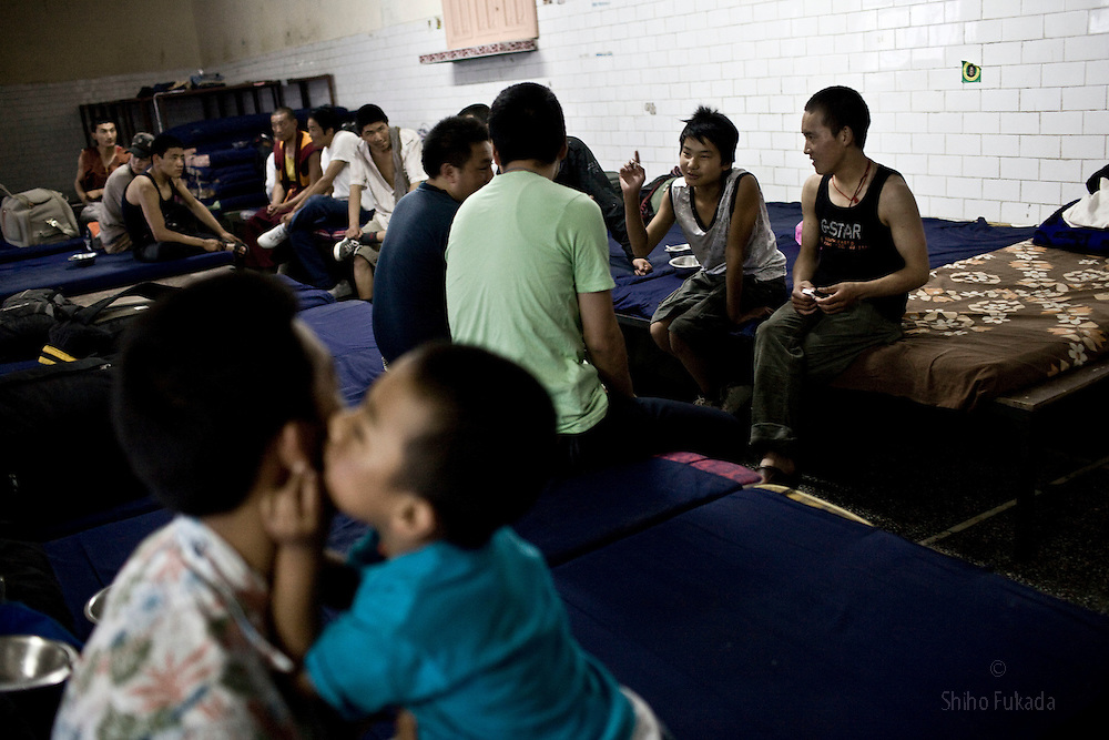 INDIA - Life in Exile (Tibetan Refugees) <br /> Tibetan refugees are seen at Reception Center, a temporary shelter for newly arrived Tibetan refugees in McLeod Ganj, Dharamsala, India, where the Dalai Lama settled after fleeing Tibet in 1959 after a failed uprising against Chinese rule, June 3, 2009.