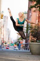 Streets of New York City Dance As Art Photography Project in Tribeca featuring dancer Marah King