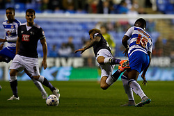 Reading's Aaron Tshibola fouls Derby County's Johnny Russell - Mandatory by-line: Jason Brown/JMP - Mobile 07966 386802 15/09/2015 - SPORT - FOOTBALL - Reading, Madejski Stadium - Reading v Derby County - Sky Bet Championship