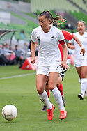 MELBOURNE, VIC - MARCH 06: Ali Riley (7) of New Zealand defends the ball during The Cup of Nations womens soccer match between New Zealand and Korea Republic on March 06, 2019 at AAMI Park, VIC. (Photo by Speed Media/Icon Sportswire)