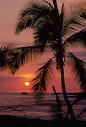 Sunset, Kailua-Kona, Island of Hawaii, Hawaii, USA<br />