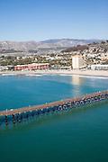 Crowne Plaza Hotel and Paseo De Playa Condos Aerial Stock Photo