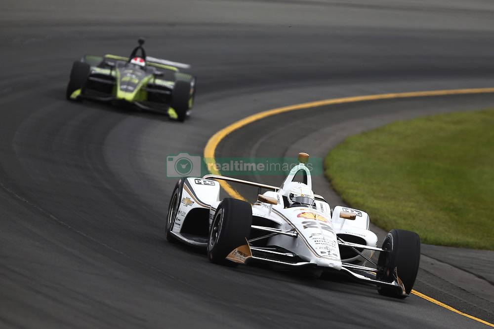 August 19, 2018 - Long Pond, Pennsylvania, United Stated - SIMON PAGENAUD (22) of France take to the track for the ABC Supply 500 at Pocono Raceway in Long Pond, Pennsylvania. (Credit Image: © Chris Owens Asp Inc/ASP via ZUMA Wire)