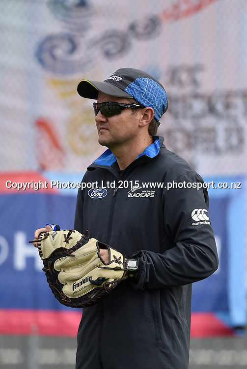 Mike Hesson during training at Eden Park in Auckland ahead of the semi final Cricket World Cup match against South Africa tomorrow. Monday 23 March 2015. Copyright photo: Andrew Cornaga / www.photosport.co.nz