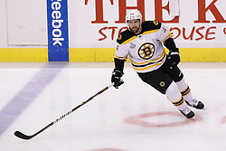 June 10, 2011; Vancouver, BC, CANADA; Boston Bruins defenseman Dennis Seidenberg (44) warms up before game five of the 2011 Stanley Cup Finals against the Vancouver Canucks at Rogers Arena. Vancouver defeated Boston 1-0. Mandatory Credit: Jason O. Watson / US PRESSWIRE