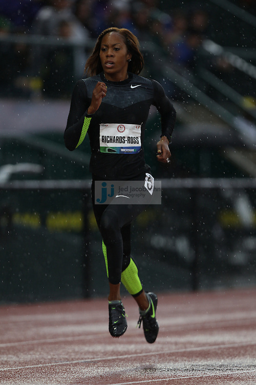 Sanya Richard-Ross competes during the 400m dash during day 1 of the U.S. Olympic Trials for Track & Field at Hayward Field in Eugene, Oregon, USA 22 Jun 2012..(Jed Jacobsohn/for The New York Times)....