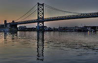 Ben Franklin Bridge, Philadelphia, PA.  2009