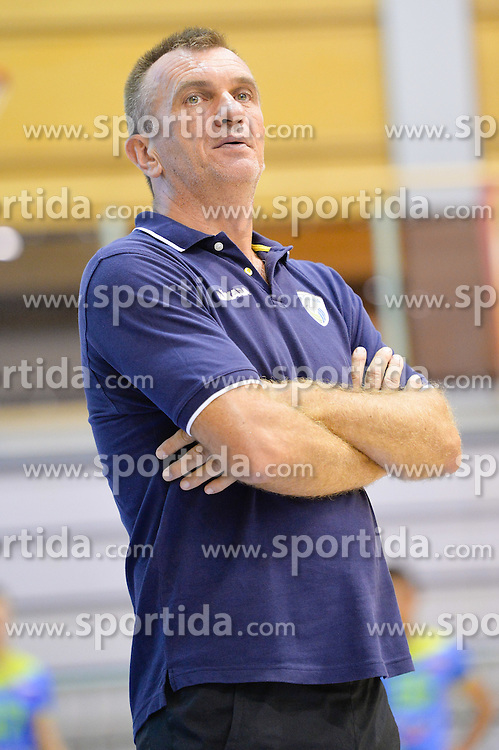 Iztok Ksela, head coach of U21 Nationalteam during the Friendly Volleyball match between OK Panvita Pomgrad and U21 Nationalteam of Slovenia on August 28, 2015 in Murska Sobota, Slovenia. Photo by Mario Horvat / Sportida