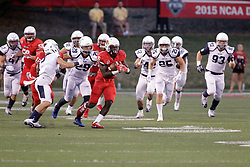 02 September 2017:   Artiss Henderson leads the pack down the field during the Butler Bulldogs at  Illinois State Redbirds Football game at Hancock Stadium in Normal IL (Photo by Alan Look)