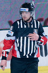 Referee Wolfgang Fussi during ice-hockey match between HDD Tilia Olimpija and EHC Liwest Black Wings Linz in 37th Round of EBEL league, on Januar 9, 2011 at Hala Tivoli, Ljubljana, Slovenia. (Photo By Matic Klansek Velej / Sportida.com)